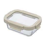 Smart Solutions Контейнер для еды стеклянный (370 мл), светло-бежевый