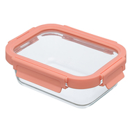 Smart Solutions Контейнер для еды стеклянный (640 мл), розовый
