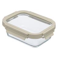 Smart Solutions Контейнер для еды стеклянный (640 мл), светло-бежевый