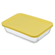 Smart Solutions Контейнер для еды стеклянный (700 мл), желтый