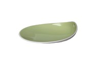 1966 Тарелка фарфоровая Jomon, 14х11х4 см, зеленая