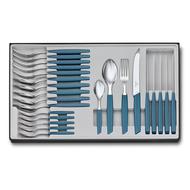 Victorinox Набор столовых приборов Swiss Modern Extension, 24 пр., васильково-синий