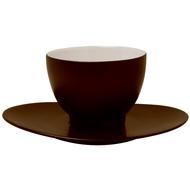 Guy Degrenne Чайная пара Salam Chocolate (200 мл), коричневая
