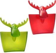 Koziol Подвеска для кружки RUDOLF (3557013), красная/оливковая