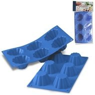 Silikomart Форма для кексов, 8 см, 6 шт., светло-синяя