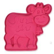 """Silikomart Форма """"Корова"""", 15х14 см, розовая"""