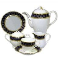 Yamasen Сервиз чайный на 12 персон, синий с золотом, 41 пр.