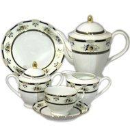Yamasen Сервиз чайный на 12 персон, черный, 41 пр.
