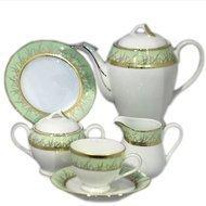 Yamasen Сервиз чайный на 12 персон, зеленый, 41 пр.