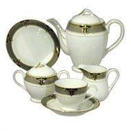 Yamasen Сервиз чайный на 12 персон, серый, 41 пр.