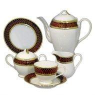 Yamasen Сервиз чайный на 12 персон, маррон, 41 пр.