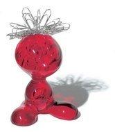 Koziol Держатель для скрепок CURLY (5535536), 5.8х7.1х8.6 см, красный