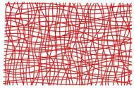 Koziol Подстановочная салфетка SILK (3090536), 45х32 см, красная