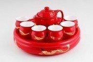 Ji-Lian Набор для чайной церемонии Красный, 8 пр.