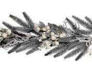 House of Seasons Гирлянда декоративная Сосна с ягодами, 180 см, белая