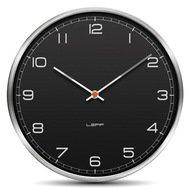 Leff Часы настенные one35 arabic, черный алюминий