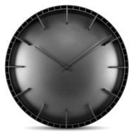 Leff Часы настенные dome45, черные