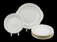 Leander Сервиз для торта Верона Розовая нить, 7 пр.