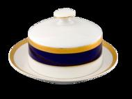 Leander Масленка круглая Сабина Сине-золотая лента (0.25 кг)