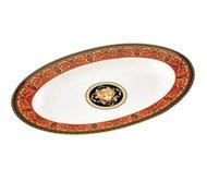 Leander Блюдо для гарнира Сабина Красная лента Версаче, овальное, 22 см
