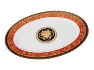 Leander Блюдо овальное Сабина Красная лента Версаче, 35 см