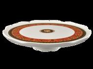 Leander Тарелка для торта на ножке Сабина Красная лента Версаче, 28 см