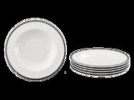 Leander Набор тарелок глубоких Сабина Изящная платина, 23 см, 6 шт.