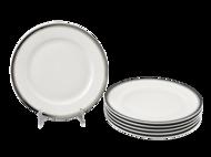 Leander Набор тарелок мелких Сабина Изящная платина, 25 см, 6 шт.