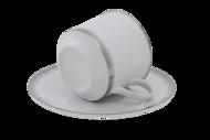 Leander Набор чашек Сабина Изящная платина (0.2 л) с блюдцами, 6 шт.