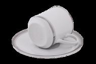 Leander Набор чашек Сабина Изящная платина (0.15 л) с блюдцами, 6 шт.