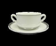 Leander Набор чашек для супа Сабина Изящная платина (0.3 л), 6 шт.