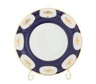 Leander Набор тарелок мелких Соната Темно-синий орнамент с золотом, 25 см, 6 шт.