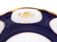 Leander Тарелка для торта Соната Темно-синий орнамент с золотом, 26 см