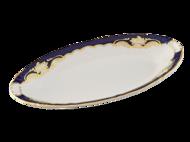 Leander Блюдо овальное Соната Темно-синяя окантовка с золотом, 23 см