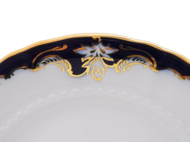 Leander Тарелка для торта Соната Темно-синяя окантовка с золотом, 27 см