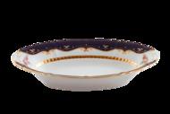 Leander Корзина для хлеба Соната Темно-синий орнамент с розами, 33.5 см