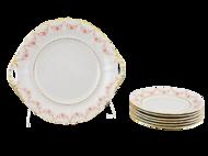 Leander Сервиз для торта Соната Розовая нить, 7 пр.