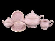 Leander Сервиз чайный Соната Розовая нить, 15 пр., розовый фарфор