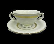 Leander Чашка для супа Соната Изящное золото (0.35 л) с блюдцем
