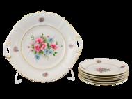 Leander Сервиз для торта Соната Весенние цветы, 7 пр.