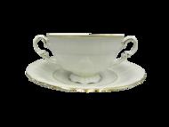Leander Чашка для супа Соната Тонкое золото (0.35 л) с блюдцем