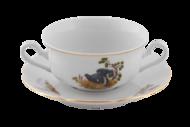 Leander Чашка для супа Мэри-Энн Лесная сказка (0.35 л) с блюдцем
