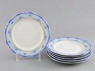 Leander Набор тарелок мелких Мэри-Энн Нежные цветы, 25 см, 6 шт.