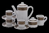 Leander Подарочный набор кофейный Мэри-Энн Темно-синяя окантовка