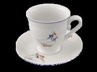 Leander Чашка высокая Гуси (0.3 л) с блюдцем