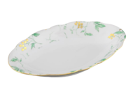 Leander Блюдо овальное Мэри-Энн Зелень и золото, 23 см