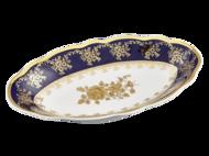 Leander Блюдо овальное Мэри-Энн Темно-синяя окантовка с золотом, 23 см
