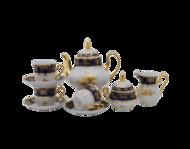 Leander Сервиз чайный Мэри-Энн Темно-синяя окантовка с золотом, 15 пр.