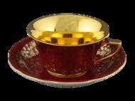 Leander Чашка низкая Виндзор (0.15 л) с блюдцем, цвета в ассортименте