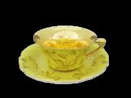 Leander Чашка низкая Виндзор (0.15 л) с блюдцем, желтая